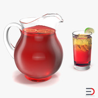 3d fruit punch model