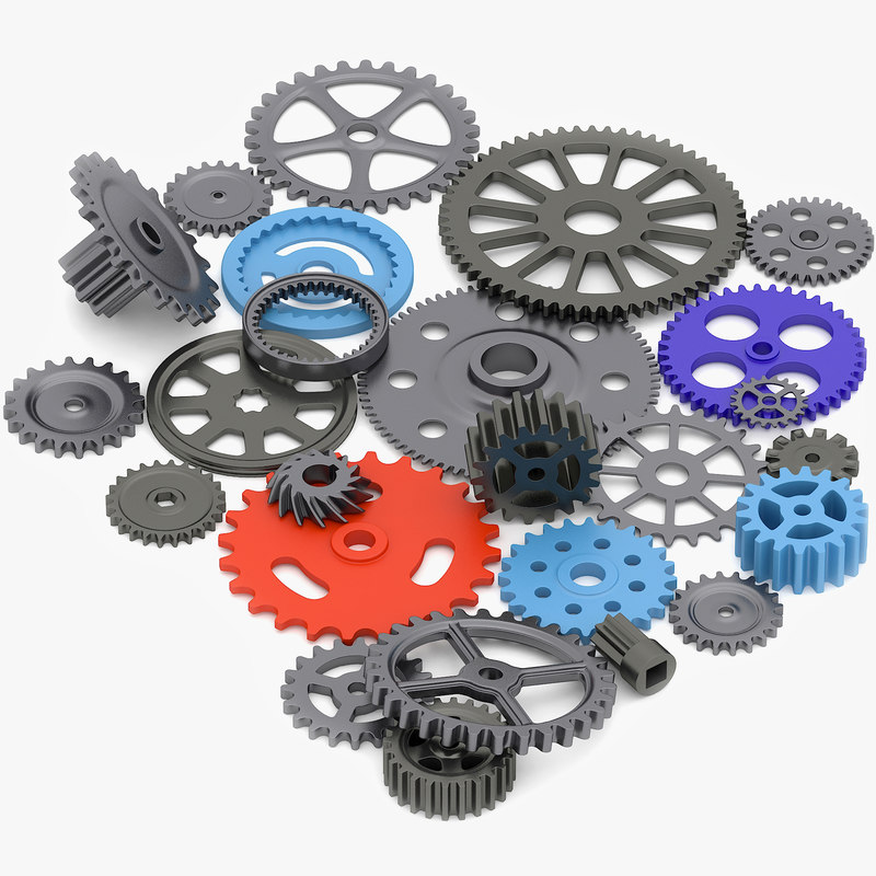 3d model gear wheels