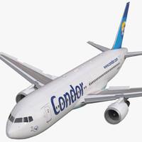 3d boeing 767-200 condor flugdienst