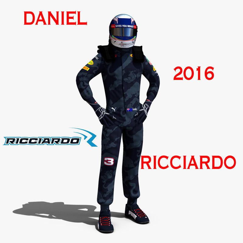 3d daniel ricciardo 2016