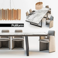 3d poliform guest chair opera model