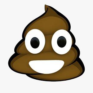3d smiling pile poo emoji