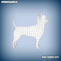 3d base mesh chihuahua dog