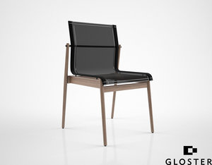 gloster sway teak stacking chair 3d max