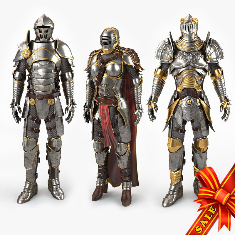 medieval armors 3d max