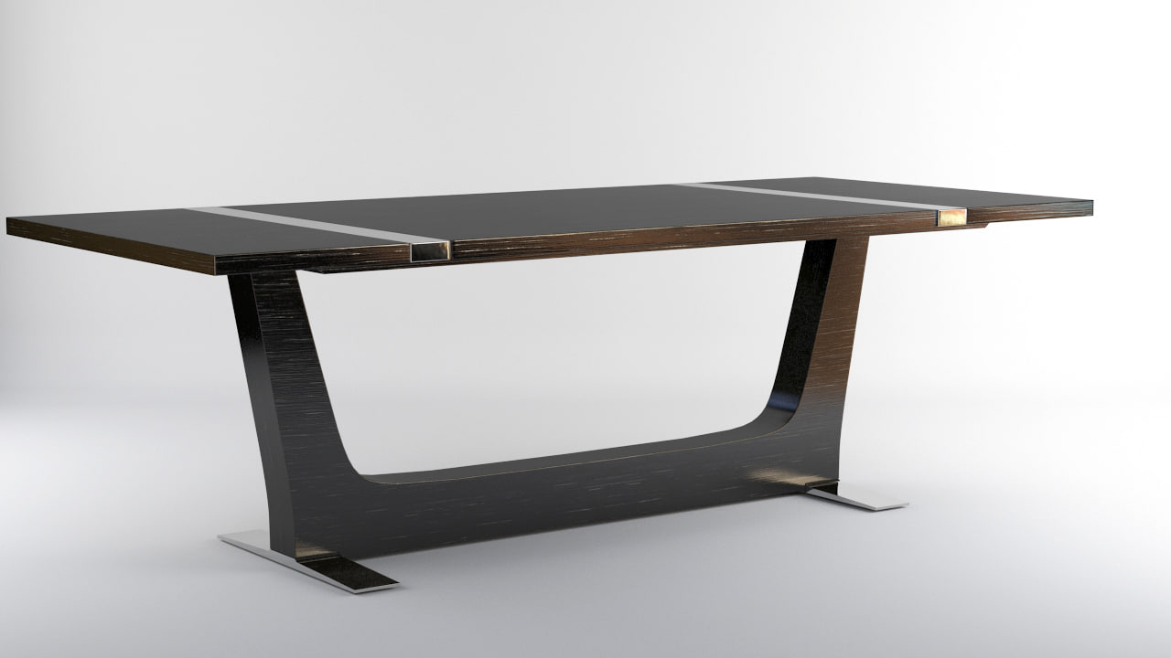 3d model echelon extension dining