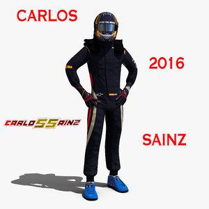 3d carlos sainz 2016 model