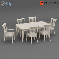 table chairs dall agnese 3d model