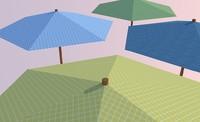 parasol set 3ds