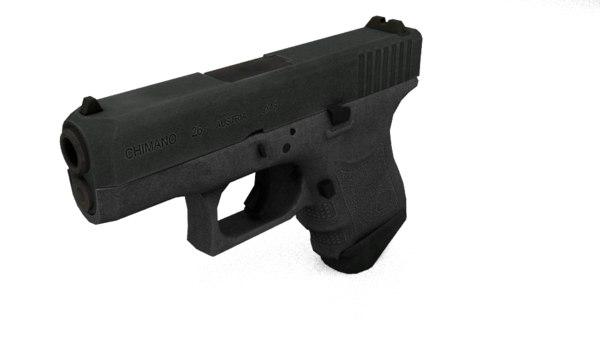 3d glock austria pistol