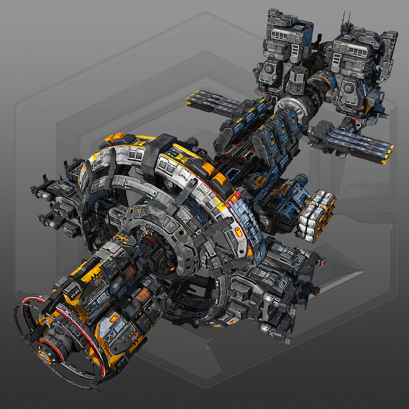 space station g8 sci fi 3d max