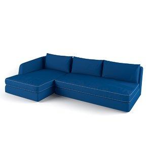 3d barret flexform sofa model