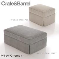 3d willow ottoman