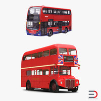 3d model of london buses simple interior