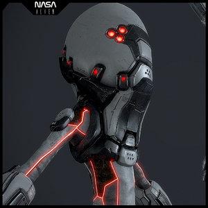 nasa alien suite 3d model