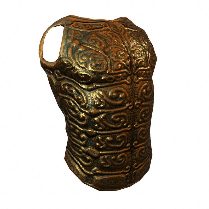 decorative bronze armour 3d model
