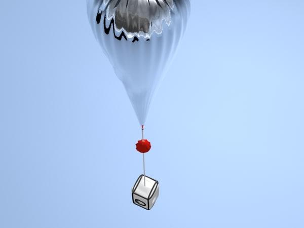 3d model weather balloon