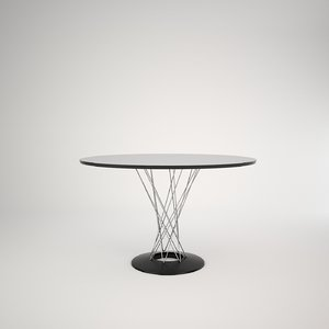 3d model dining table isamu noguchi
