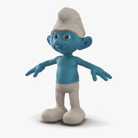 smurf realistic 3d model