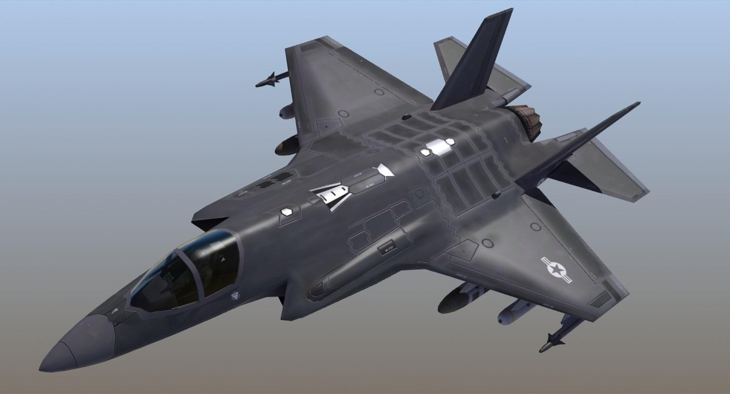 f-35a lightning 3d max