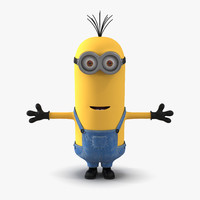 3d model tall eyed minion