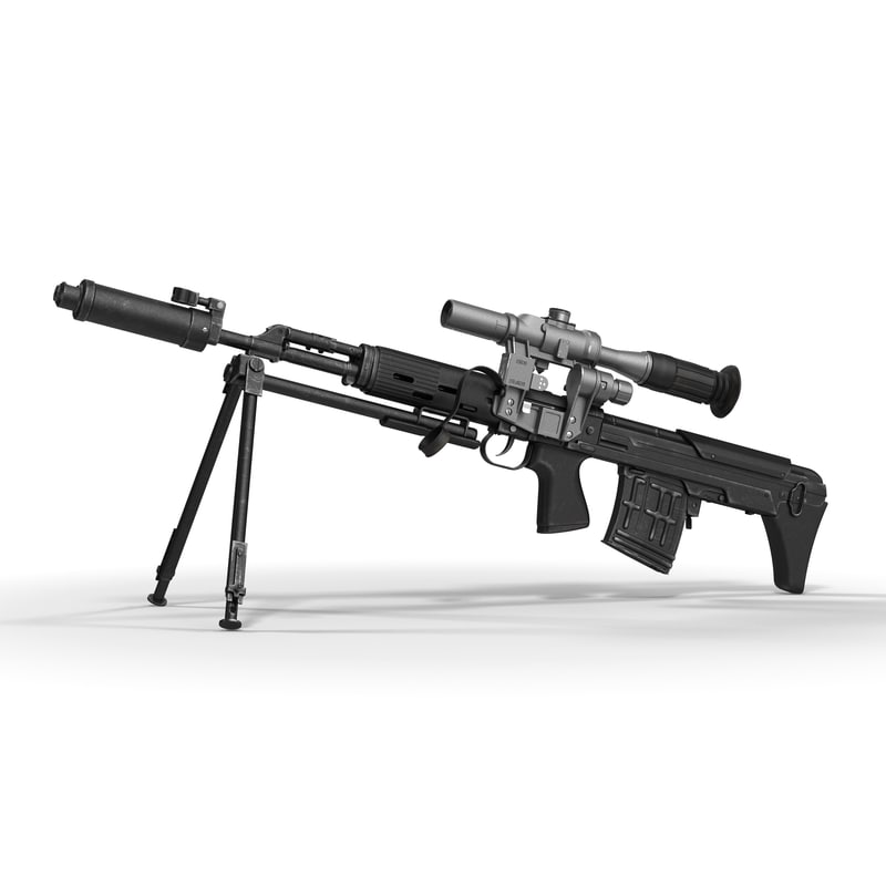 bullpup sniper rifle dragunov fbx