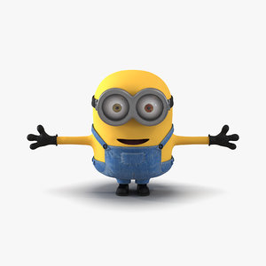 3d obj short eyed minion