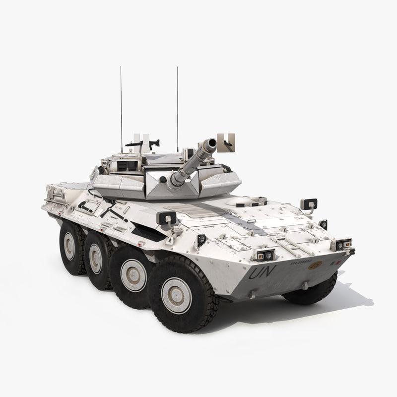 wheeled tank destroyer b1 3d model