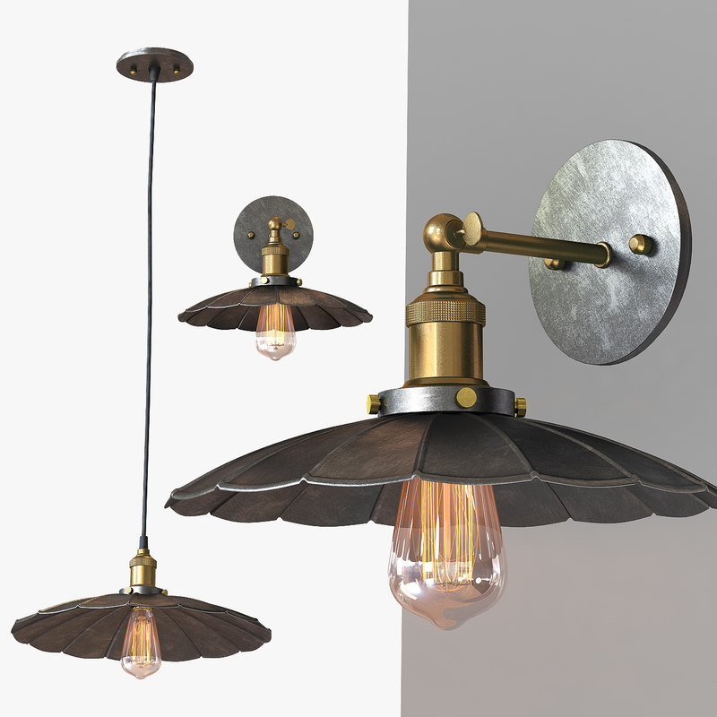 chandelier light loft 3d max