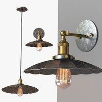 chandelier light loft 3d max