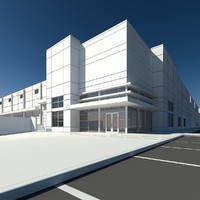 warehouse retail building 3d max
