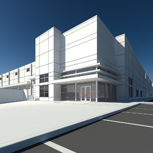 warehouse retail building 3d max