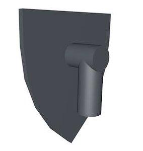 3d lego triangular shield model
