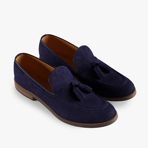 3d model loafers blue