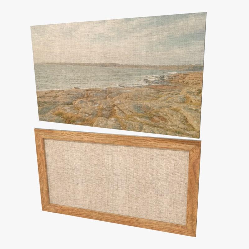 obj beach painting