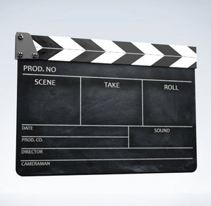 3d model klaket clapper board