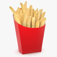 realistic french fry 3d max