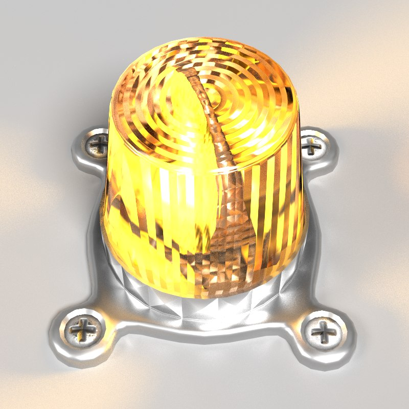 siren lighting 3d model