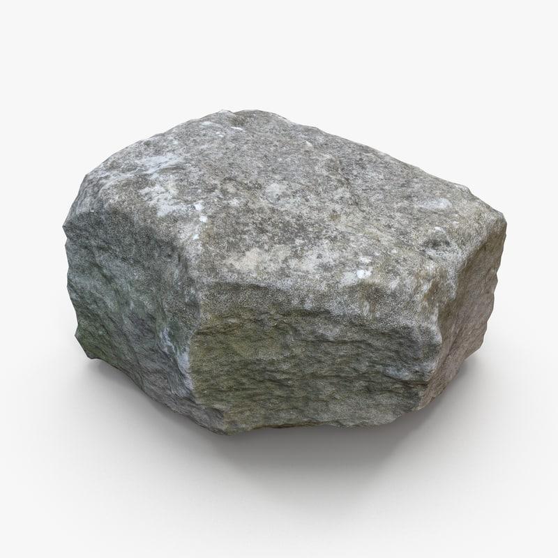 3d obj stone block