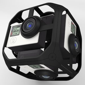 3d model virtual reality camera rig