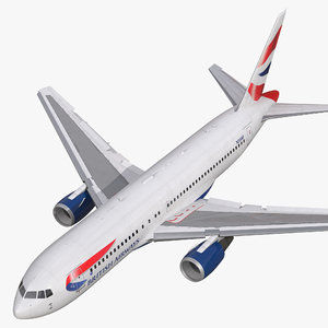 3d boeing 767 200 british airways