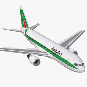 3d boeing 767-200 alitalia rigged