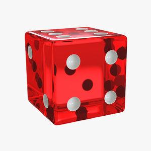 3d dice modelled model