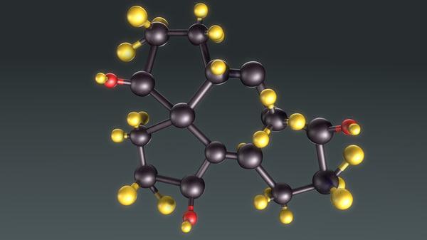 3d model hormone