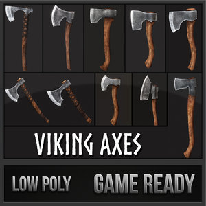 viking axes 3d max