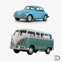 Retro Volkswagen Cars Collection