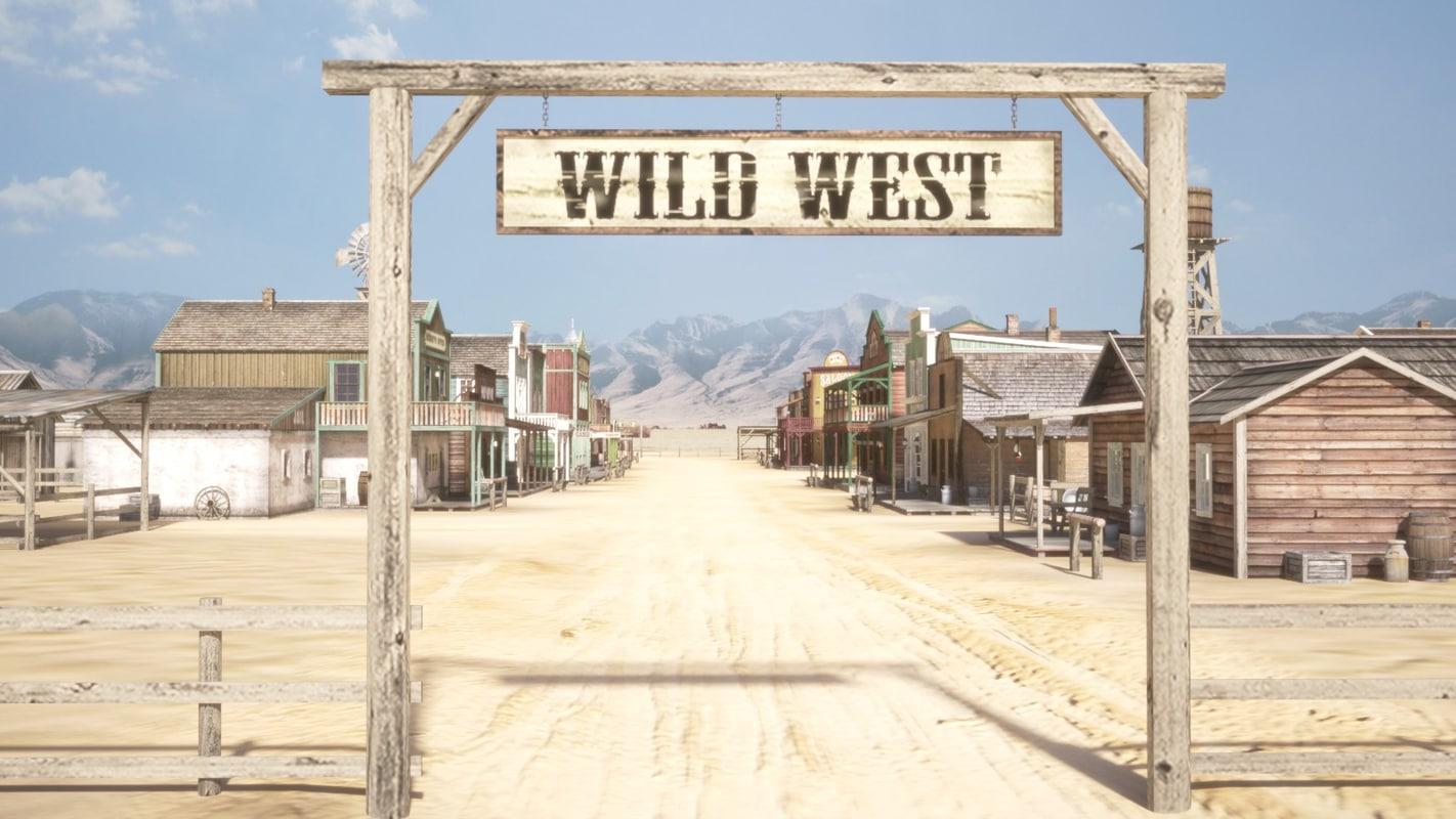 western town west 3d c4d