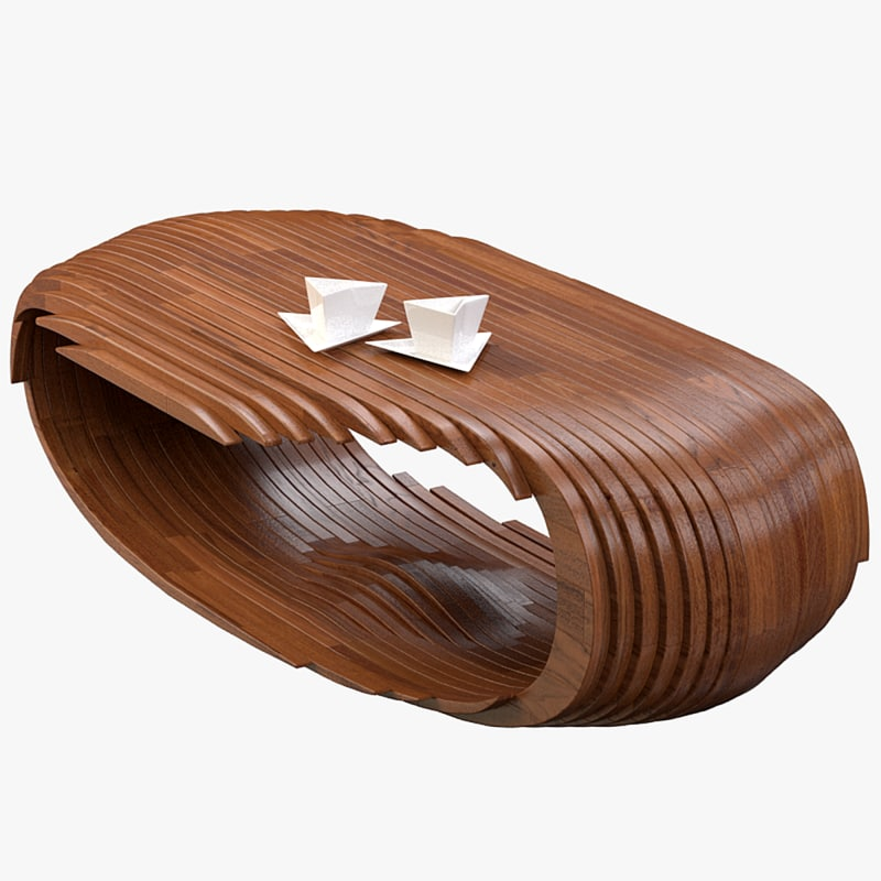 3d model of mesa cb coffee table