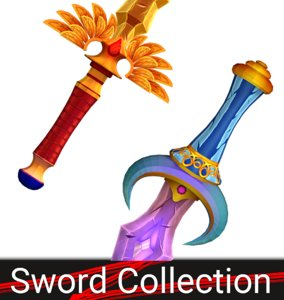 3d model of fantasy sword