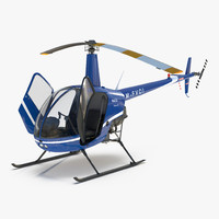 helicopter robinson r22 rigged 3d max
